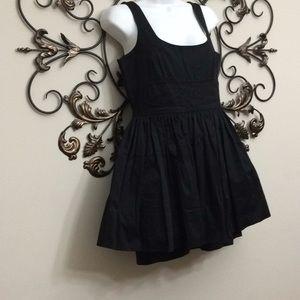 Jack by BB Dakota black top fitted fluffy dress